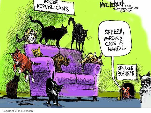 Mike Luckovich  Mike Luckovich's Editorial Cartoons 2013-03-03 congressional leadership