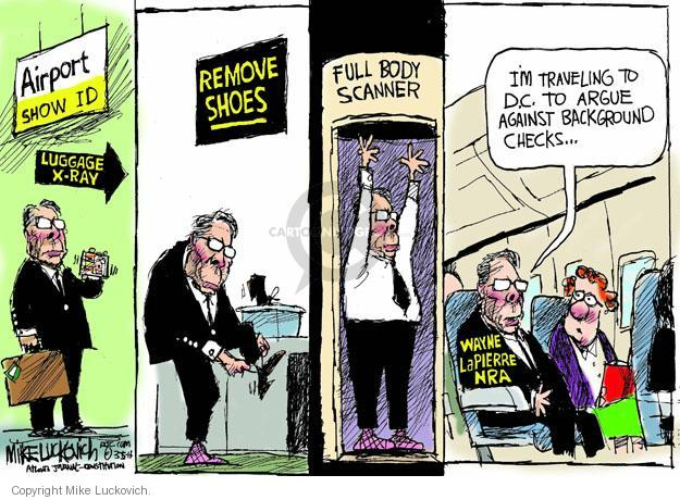 Cartoonist Mike Luckovich  Mike Luckovich's Editorial Cartoons 2013-03-05 gun safety