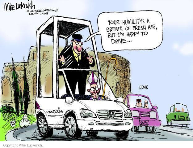 Cartoonist Mike Luckovich  Mike Luckovich's Editorial Cartoons 2013-03-17 happy