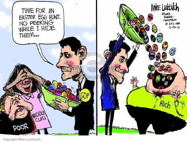 Cartoonist Mike Luckovich  Mike Luckovich's Editorial Cartoons 2013-03-24 hunt