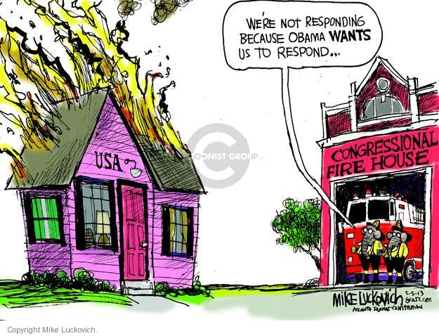 Were not responding because Obama WANTS us to respond � USA. Congressional Fire House.