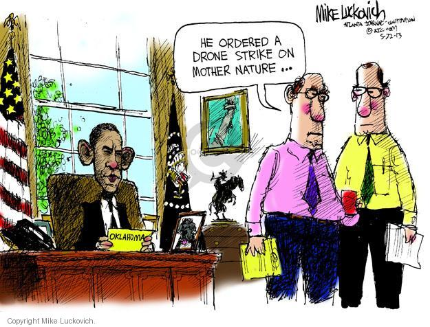 Mike Luckovich  Mike Luckovich's Editorial Cartoons 2013-05-22 Barack Obama
