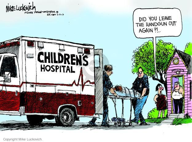 Cartoonist Mike Luckovich  Mike Luckovich's Editorial Cartoons 2013-06-02 weaponry