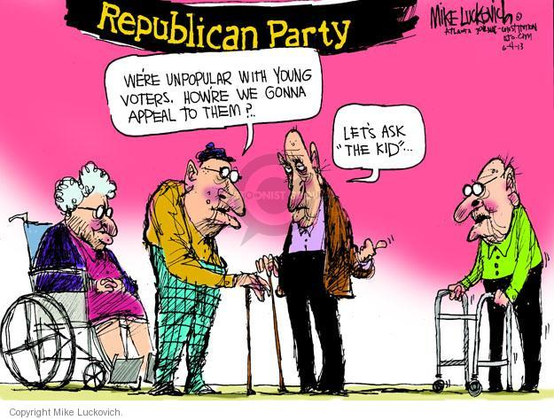 Cartoonist Mike Luckovich  Mike Luckovich's Editorial Cartoons 2013-06-04 old age