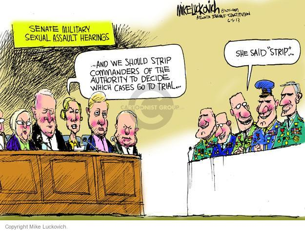 Mike Luckovich  Mike Luckovich's Editorial Cartoons 2013-06-05 armed forces
