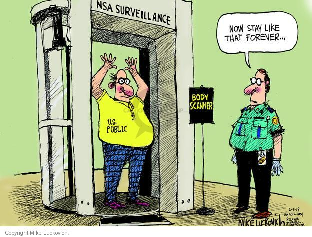 Mike Luckovich  Mike Luckovich's Editorial Cartoons 2013-06-07 security