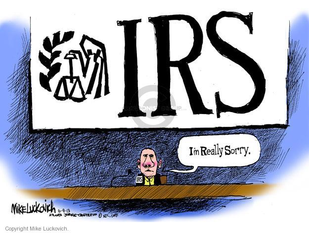 Mike Luckovich  Mike Luckovich's Editorial Cartoons 2013-06-09 tax audit