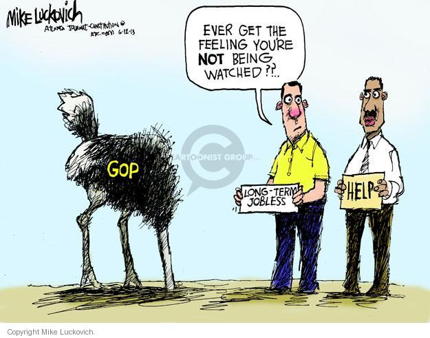 Cartoonist Mike Luckovich  Mike Luckovich's Editorial Cartoons 2013-06-12 unemployment