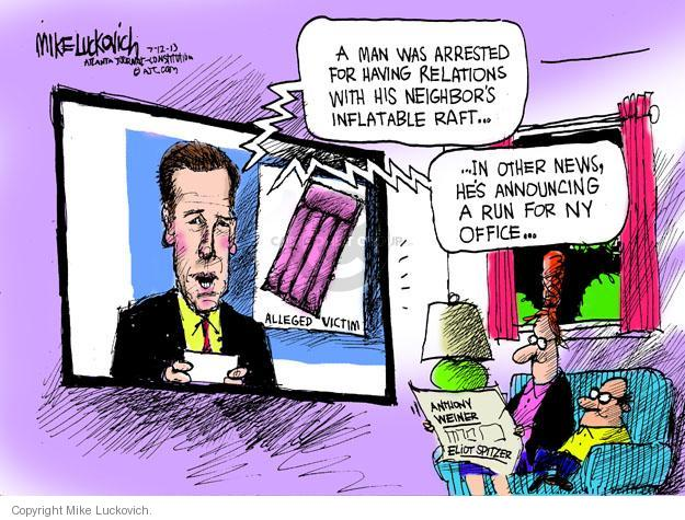 Cartoonist Mike Luckovich  Mike Luckovich's Editorial Cartoons 2013-07-12 Eliot