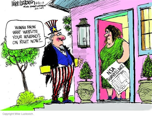 Mike Luckovich  Mike Luckovich's Editorial Cartoons 2013-08-01 security