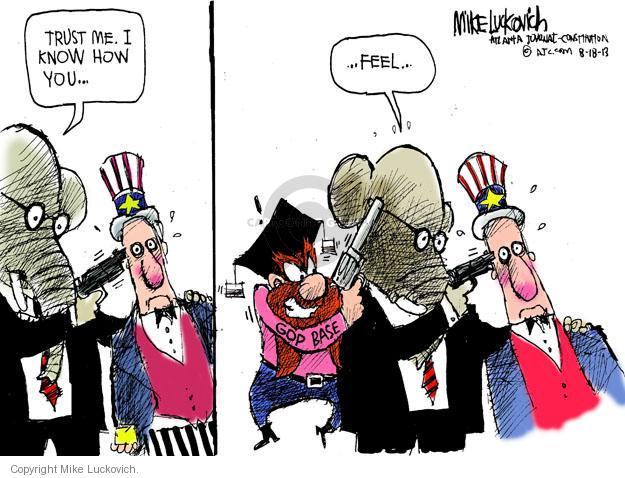 Mike Luckovich  Mike Luckovich's Editorial Cartoons 2013-08-18 republican politician