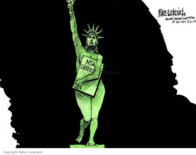 Cartoonist Mike Luckovich  Mike Luckovich's Editorial Cartoons 2013-08-20 liberty