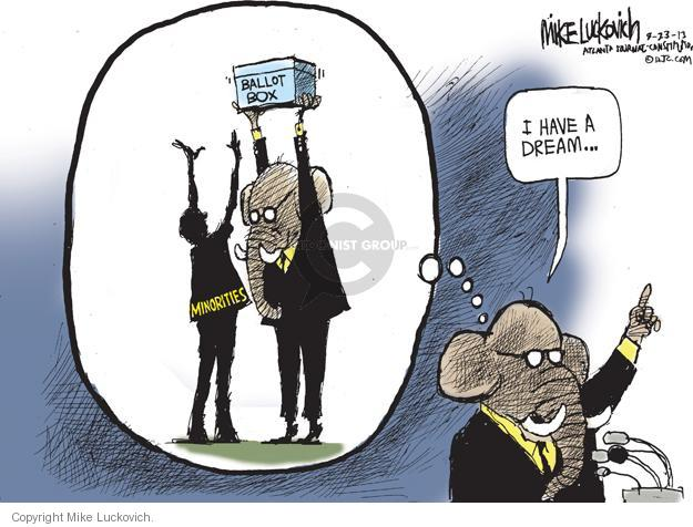 Mike Luckovich  Mike Luckovich's Editorial Cartoons 2013-08-23 voting rights