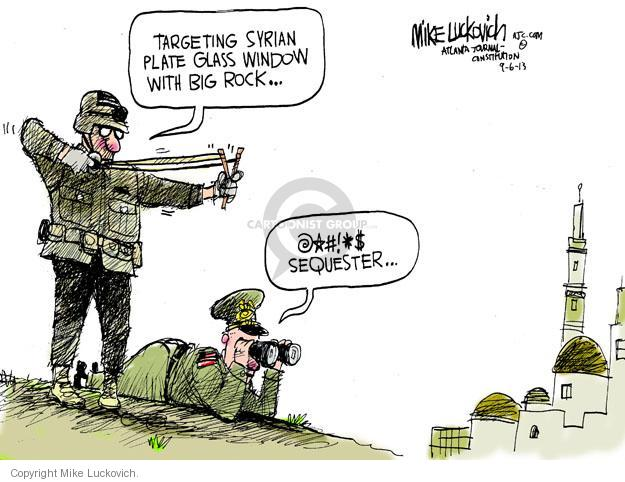 Mike Luckovich  Mike Luckovich's Editorial Cartoons 2013-09-06 armed forces