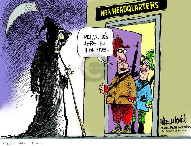 Mike Luckovich  Mike Luckovich's Editorial Cartoons 2013-09-17 assault weapon