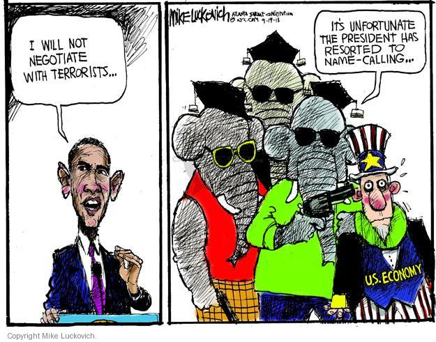 Mike Luckovich  Mike Luckovich's Editorial Cartoons 2013-09-19 Obama terrorism