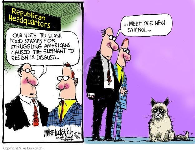 Mike Luckovich  Mike Luckovich's Editorial Cartoons 2013-09-27 republican politician