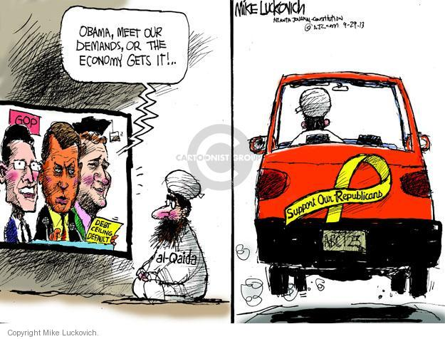 Mike Luckovich  Mike Luckovich's Editorial Cartoons 2013-09-29 Obama Boehner