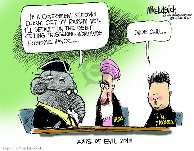 Mike Luckovich  Mike Luckovich's Editorial Cartoons 2013-10-04 policy