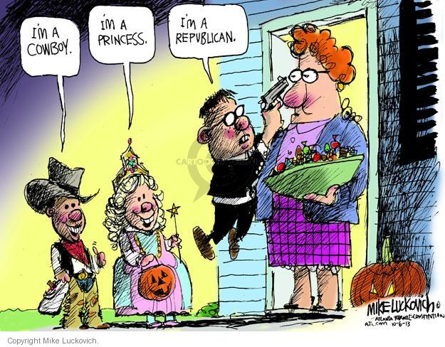 Mike Luckovich  Mike Luckovich's Editorial Cartoons 2013-10-06 republican politician