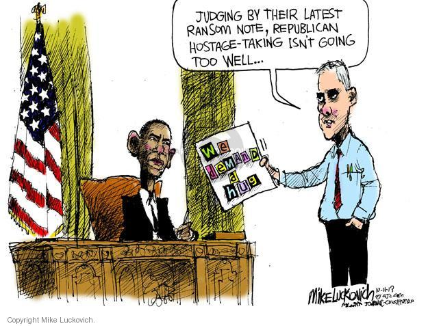 Mike Luckovich  Mike Luckovich's Editorial Cartoons 2013-10-11 republican politician