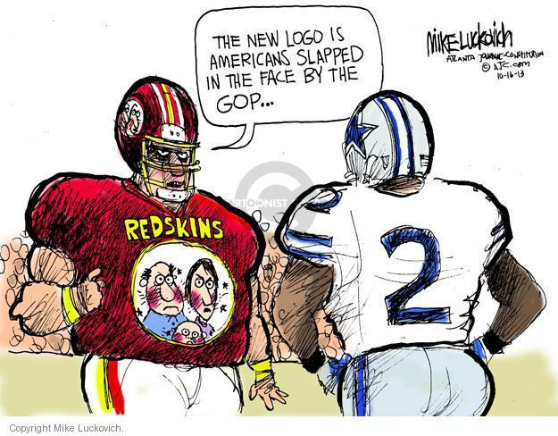 Cartoonist Mike Luckovich  Mike Luckovich's Editorial Cartoons 2013-10-16 racial