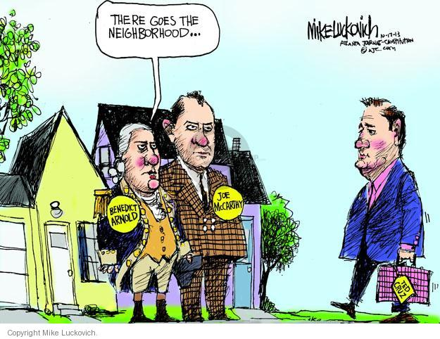Cartoonist Mike Luckovich  Mike Luckovich's Editorial Cartoons 2013-10-17 revolutionary war