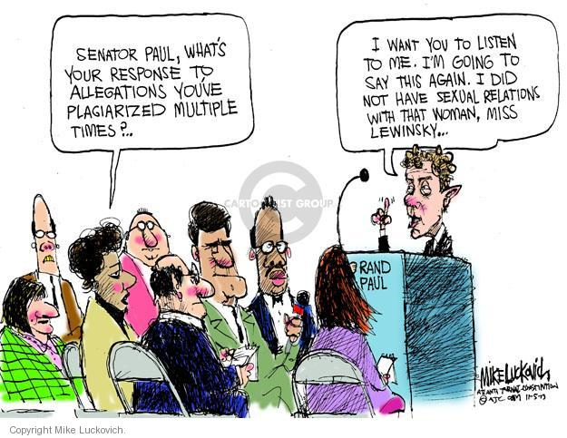 Cartoonist Mike Luckovich  Mike Luckovich's Editorial Cartoons 2013-11-05 woman