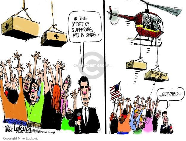 Cartoonist Mike Luckovich  Mike Luckovich's Editorial Cartoons 2013-11-15 cutting