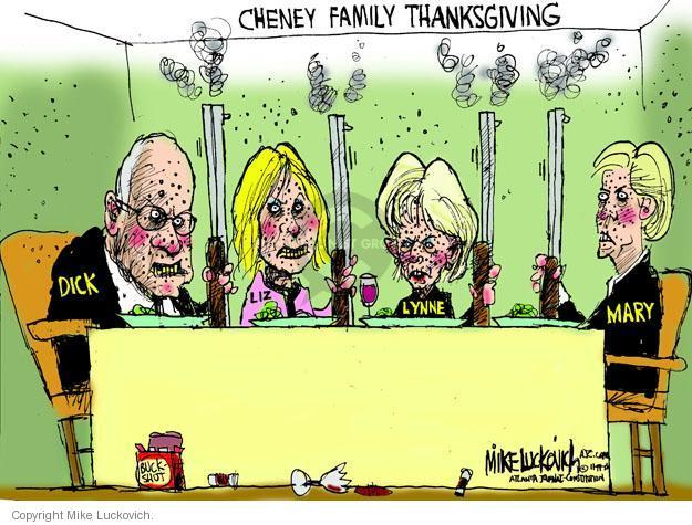 Cartoonist Mike Luckovich  Mike Luckovich's Editorial Cartoons 2013-11-19 Liz Cheney