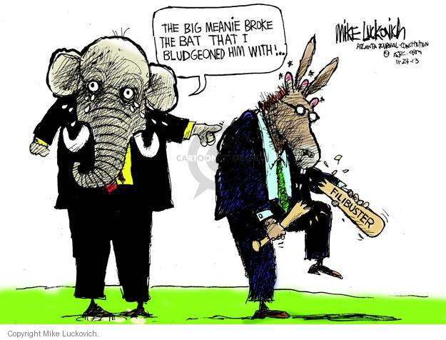 Mike Luckovich  Mike Luckovich's Editorial Cartoons 2013-11-24 republican politician