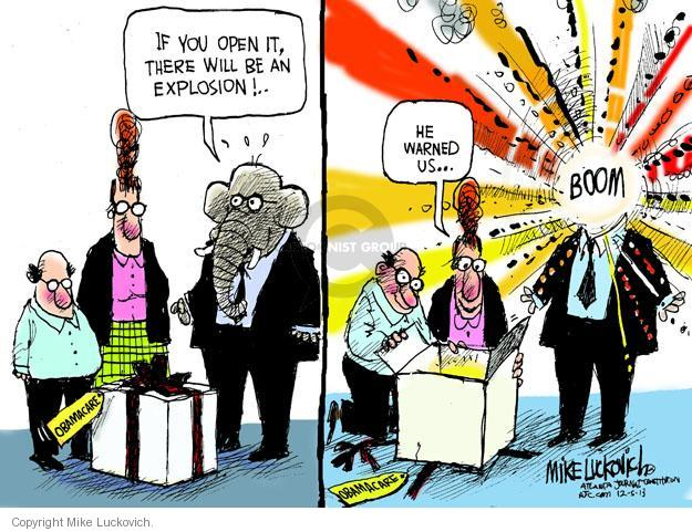 Mike Luckovich  Mike Luckovich's Editorial Cartoons 2013-12-05 Obamacare