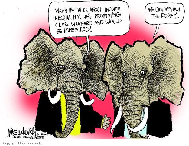 Cartoonist Mike Luckovich  Mike Luckovich's Editorial Cartoons 2013-12-08 denounce