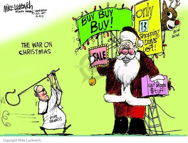 Cartoonist Mike Luckovich  Mike Luckovich's Editorial Cartoons 2013-12-11 denounce