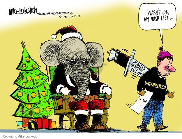 Mike Luckovich  Mike Luckovich's Editorial Cartoons 2013-12-12 republican politician