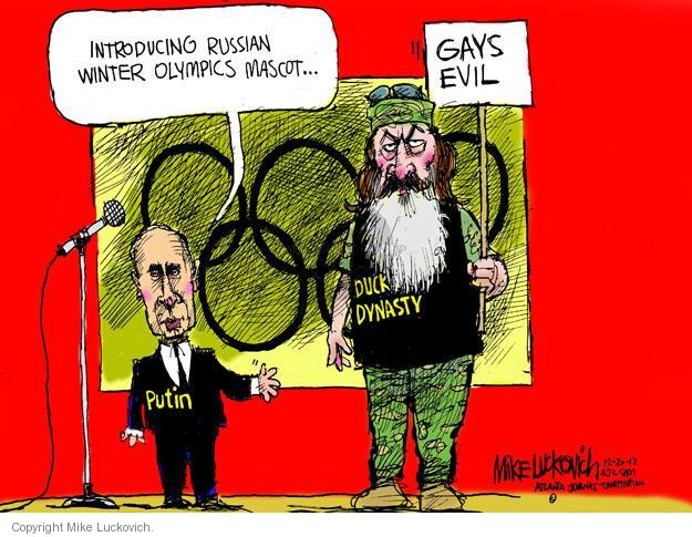 Cartoonist Mike Luckovich  Mike Luckovich's Editorial Cartoons 2013-12-20 2014 Olympics