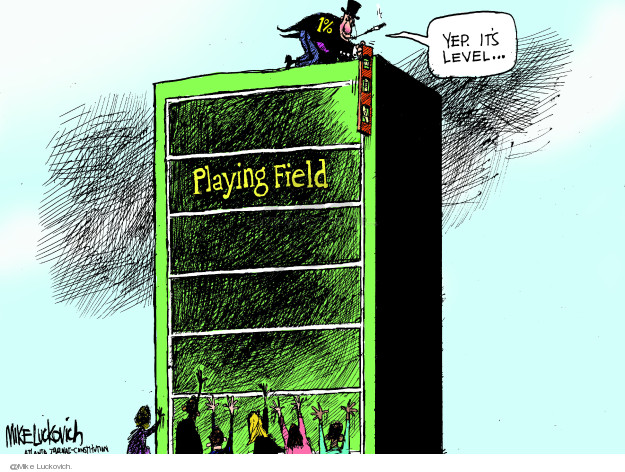 Mike Luckovich  Mike Luckovich's Editorial Cartoons 2013-12-24 income inequality