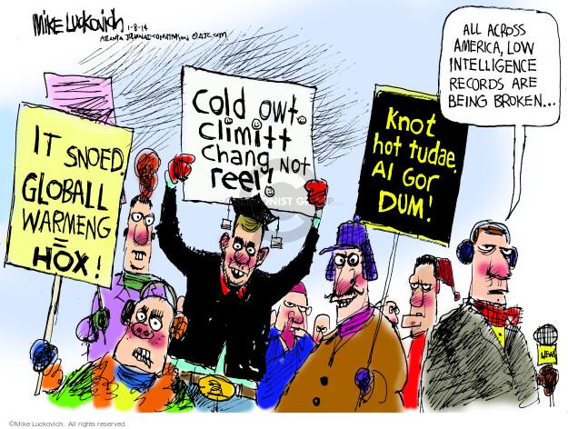 Cartoonist Mike Luckovich  Mike Luckovich's Editorial Cartoons 2014-01-08 Al Gore
