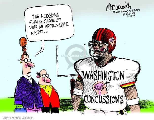 Cartoonist Mike Luckovich  Mike Luckovich's Editorial Cartoons 2014-01-22 racial