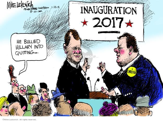 Cartoonist Mike Luckovich  Mike Luckovich's Editorial Cartoons 2014-01-23 Chris
