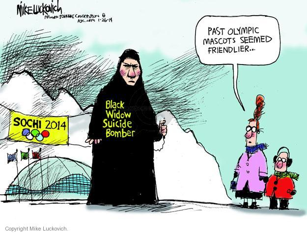 Cartoonist Mike Luckovich  Mike Luckovich's Editorial Cartoons 2014-01-26 2014 Olympics