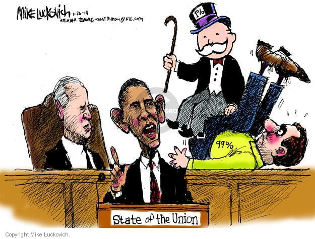Mike Luckovich  Mike Luckovich's Editorial Cartoons 2014-01-27 Obama Biden