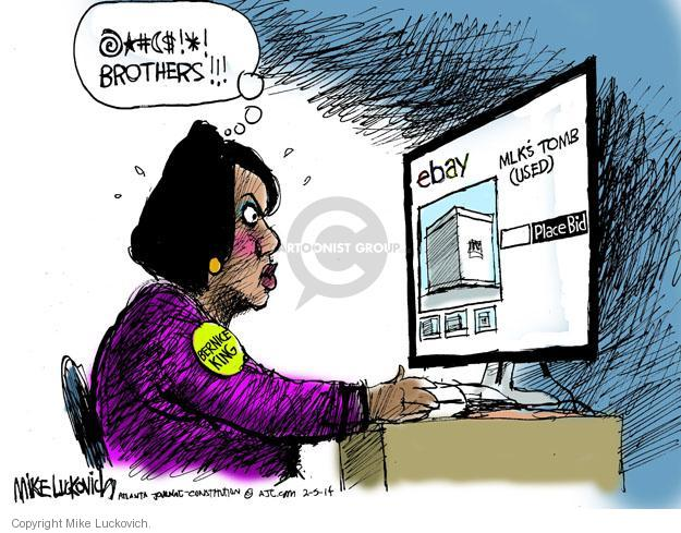 Cartoonist Mike Luckovich  Mike Luckovich's Editorial Cartoons 2014-02-05 Martin Luther King Jr.