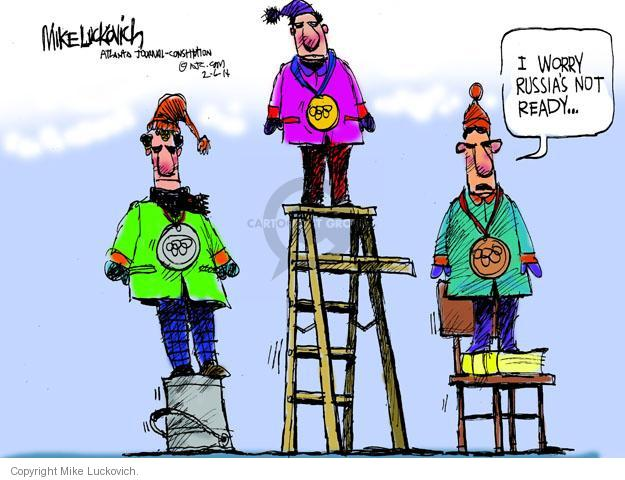 Cartoonist Mike Luckovich  Mike Luckovich's Editorial Cartoons 2014-02-06 2014 Olympics