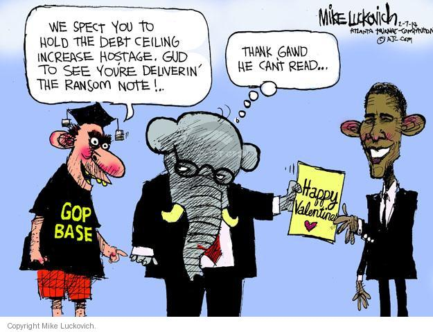 Cartoonist Mike Luckovich  Mike Luckovich's Editorial Cartoons 2014-02-07 happy