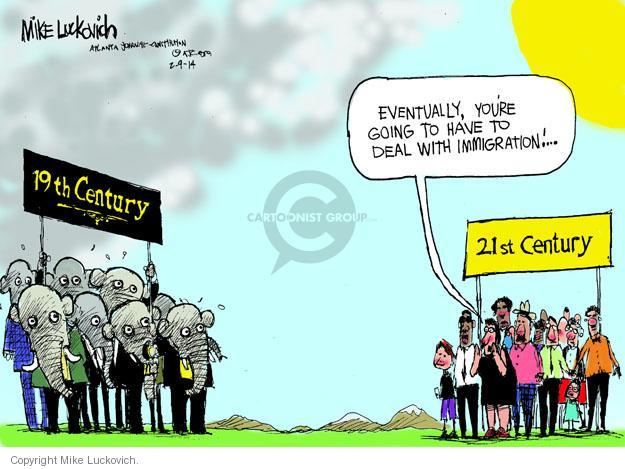 Mike Luckovich  Mike Luckovich's Editorial Cartoons 2014-02-09 policy