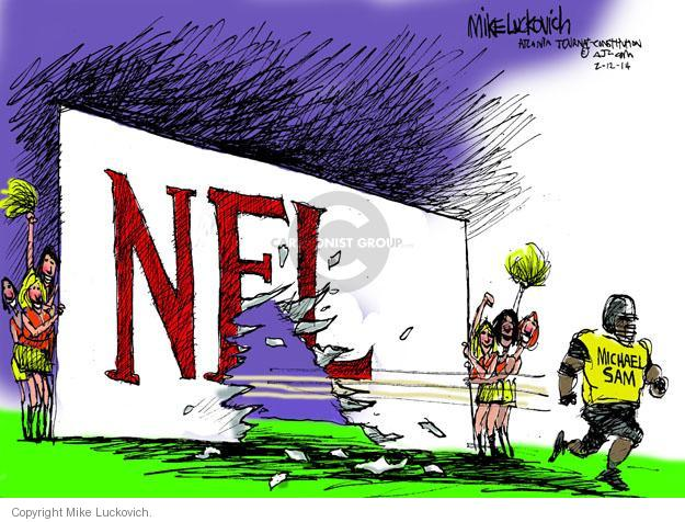 Mike Luckovich  Mike Luckovich's Editorial Cartoons 2014-02-12 football player