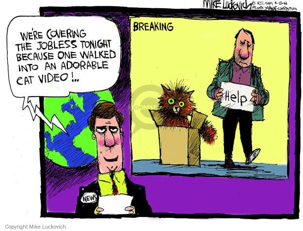 Cartoonist Mike Luckovich  Mike Luckovich's Editorial Cartoons 2014-02-13 commentator