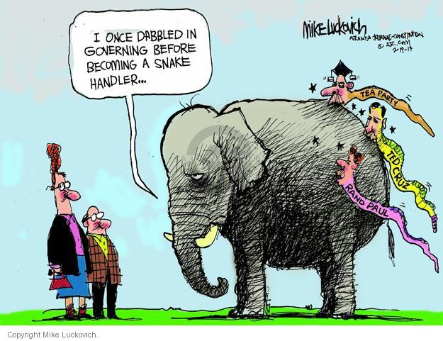 Mike Luckovich  Mike Luckovich's Editorial Cartoons 2014-02-19 conservatism