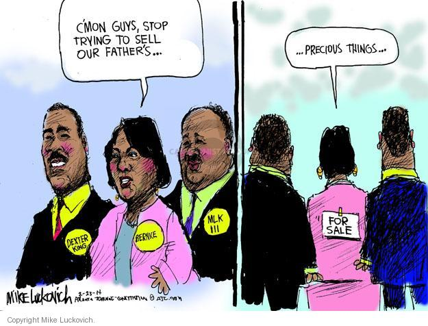 Cartoonist Mike Luckovich  Mike Luckovich's Editorial Cartoons 2014-02-23 Martin Luther King Jr.
